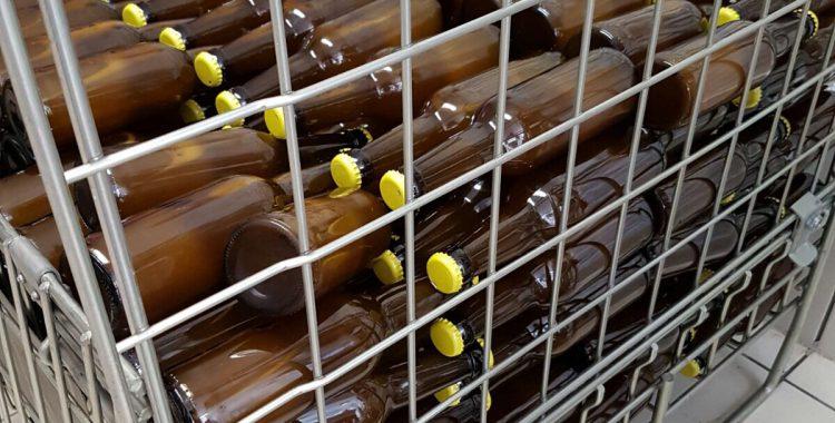 Bières en cage